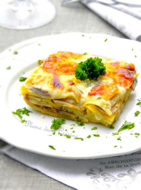 lasagnes-champignons-légères