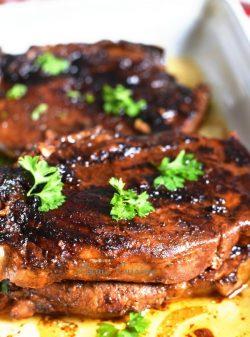 Marinade-côtelettes-de-porc-au-four-recette