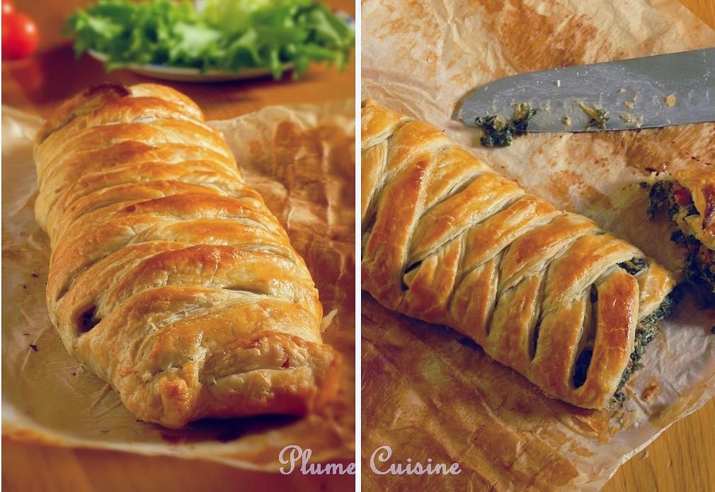 Feuilleté-tressé-épinards-et-lardons