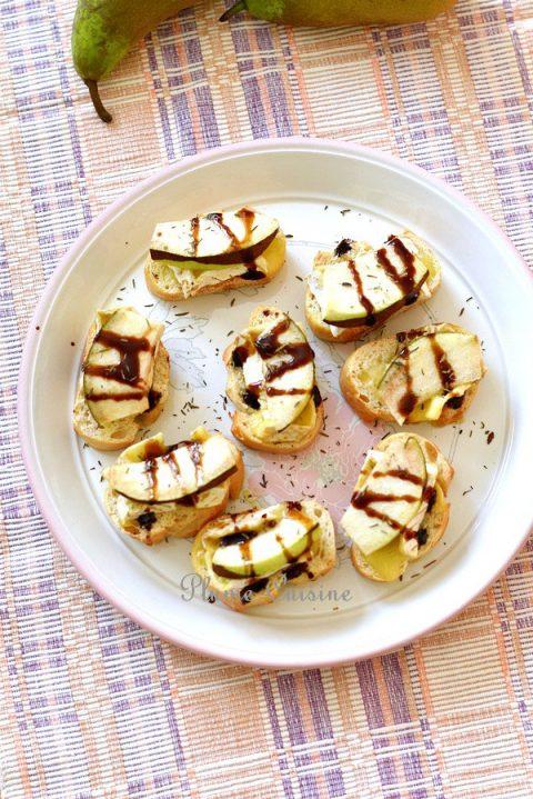 Tartines poire et Brie